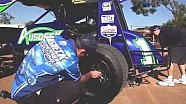 Lucas Oil V8 stars Van Gisbergen and Webb test Ausdeck Sprintcar