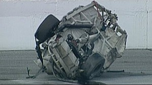 Geoff Bodine flips violently at Daytona