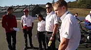 A fun look at the drivers our doing a reconnaissance lap  on foot of the Fuji circuit