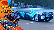 Nelson Piquet Jr. crashes on pit lane in China