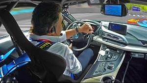 GoPro a bordo BMW i8 hot Lap con Alejandro Agag.