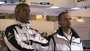 Epic race action between Audi and Porsche