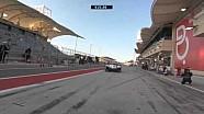 Porsche 17 into the pit
