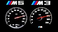 BMW M5 vs BMW M3 F80 Acceleration 0-270 Autobahn Onboard V8 Sound