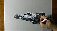De 2016 Mercedes F1 W07-bolide in 3D