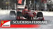 Giancarlo Fisichella pilote la Ferrari F60 dans la neige!