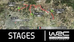 Rally Guanajuato México 2016: The Stages