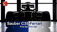 Sauber C35-Ferrari - Fire Up - Sauber F1 Team