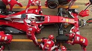 Ferrari-Boxenstopp in Zeitlupe