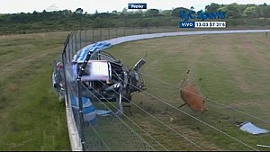 Massive crash of Augusto Scalbi in Argentina TC 2000