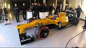 Nicholas Latifi test de Renault F1-auto op Silverstone