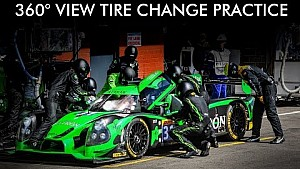 360 Video: Tequila Patrón ESM tire change practice at the 6 Hours of Spa