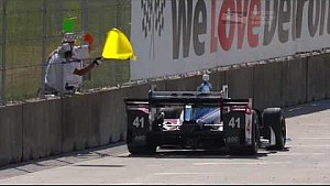 Detroit IndyCar Race 2 highlights