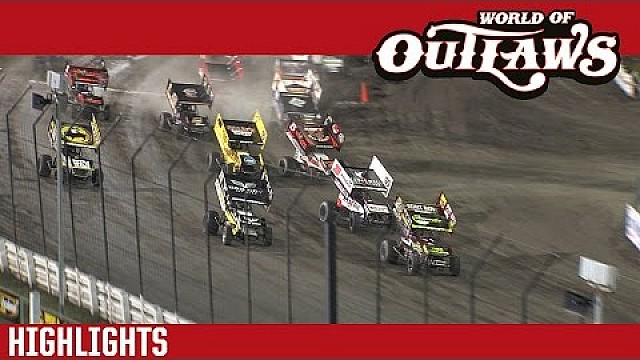 World of Outlaws Craftsman Sprint Cars Knoxville, 2016 | HIGHLIGHTS