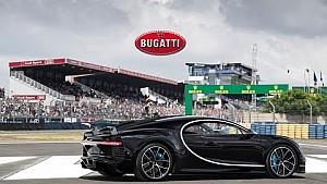 De Bugatti Chiron bij de 24 uur van Le Mans 2016 - On Track + Drivers Parade