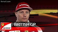 The British GP with Kimi Raikkonen - Scuderia Ferrari 2016