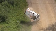 FIA ERC spectacular crash at Rally Estonia 2016