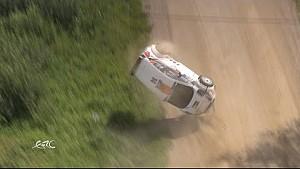 FIA ERC - видовищна аварія на Ралі Естонія 2016