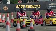 Jugadores del Manchester United participan en carrera de minicars
