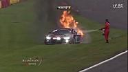 斯帕24小时耐力赛奥迪赛车着火