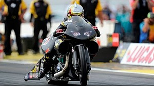 Angelle Sampey rockets to the No. 1 qualifying spot in Brainerd