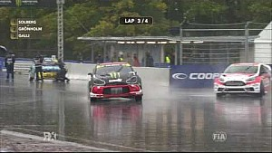 Solberg Crash: Q3 Latvia RX | FIA World RX