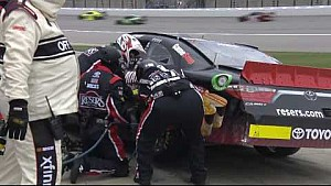 Jones' day destroyed by late-race restart collision