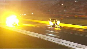NHRA Top Fuel pilot Scott Palmer lights it up in Texas