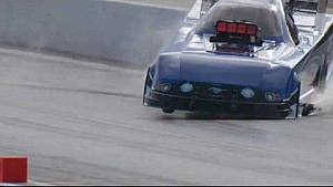 NHRA Funny Car driver Densham shows driving skills on Wild Run