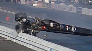 NHRA racer Fred Hanssen walks away from Incredible crash in Pomona