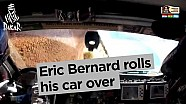 Eric Bernard vuelca en su auto - Dakar 2017