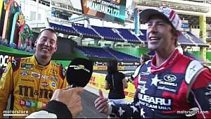 Kyle Busch se estrella con Travis Pastrana entrevista!
