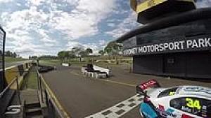 Zeitraffer: Supercars-Test in Sydney