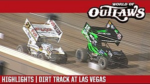 World of Outlaws Craftsman sprint cars dirt track at Las Vegas March 9, 2017 | Highlights