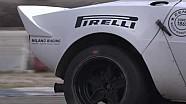 Érik Comas au volant d'une Lancia Stratos avec des pneus Pirelli