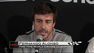Fernando Alonso Visits Honda Indy GP of Alabama