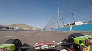 Visor cam: Marco Andretti at Phoenix International Raceway