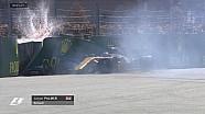 GP de Russie - Le crash de Palmer en qualifs en vidéo