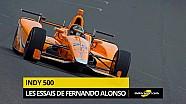 Les essais de Fernando Alonso à Indy en vidéo