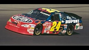 Jeff Gordon wins first NASCAR Cup race at Kansas