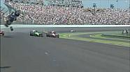 Авария Майка Конвея на последнем круге Indy 500 2010 года