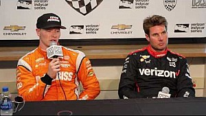 Josef Newgarden and Will Power Road America news conference