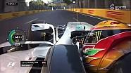 2017 Azerbaycan GP - Hamilton vs Vettel Kapışması Farklı Açı