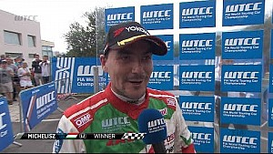 Norbert Michelisz wins the main race in Portugal