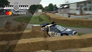 Ford RS200 Evo 2 crash in Goodwood
