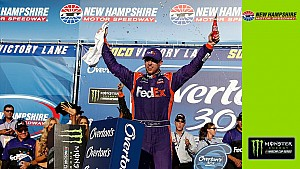 Recap: Hamlin gets 30th Monster Energy Series win at New Hampshire