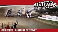World of Outlaws Craftsman sprint cars Hartford Speedway July 28, 2017 | Highlights