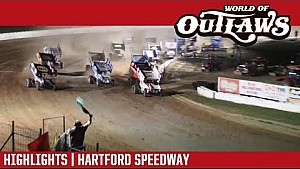 World of Outlaws Craftsman sprint cars Hartford Speedway July 28, 2017 | Highlights
