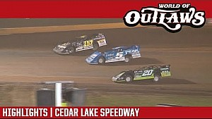 World of Outlaws Craftsman Late models Cedar Lake speedway August 5, 2017 | Highlights