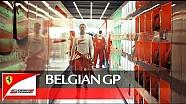 Detrás de la salida en el GP de Bélgica